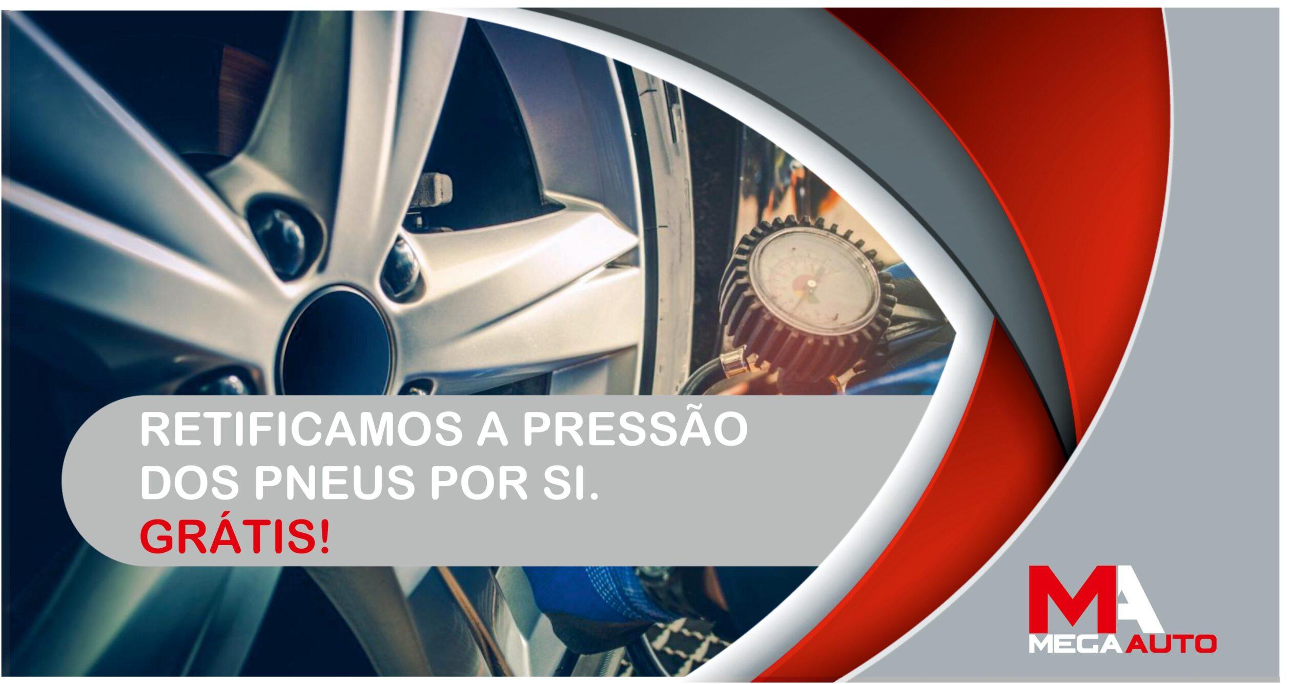 Pressão de ar nos pneus